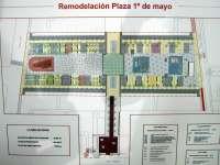La Plaza 1º de Mayo incorpora dos fuentes y las dos zonas de juegos infantiles más amplias del centro de Logroño