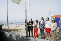 La playa de Las Canteras, en Las Palmas de Gran Canaria, ya ondea la bandera de la Q de calidad turística