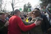 El alcalde de Jódar culmina su marcha de doce días a pie a Moncloa por la supresión de peonadas y un PER especial