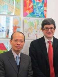 Iribas traslada al embajador de Taiwán en España su disposición a colaborar en materias educativas