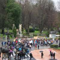Estudiantes asturianos se manifiestan en Oviedo contra la Ley Wert