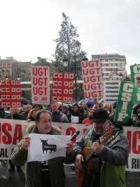 La Plataforma Sindical de Empleados Públicos protesta con chirigotas