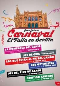 Las chirigotas y comparsas del Carnaval de Cádiz llegan el 10 de marzo a Fibes de la mano de seis agrupaciones
