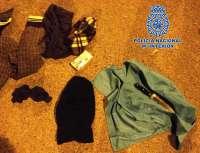 Detenido un joven de 20 años acusado de asaltos a bares de El Ejido, armado y con pasamontañas