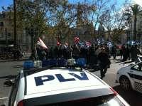 Empleados públicos de la Comunitat protestan por los recortes y el