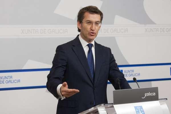 Feijóo declara haber ganado 333.344 euros brutos en el último lustro y 46.549 euros netos en dietas del Parlamento