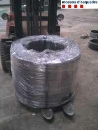 Dos detenidos en Lleida por robar dos toneladas de acero de una empresa