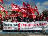 Cientos de personas se manifiestan en Castilla-La Mancha