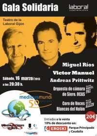Víctor Manuel se une a Miguel Ríos en la gala solidaria en favor de Medicus Mundi
