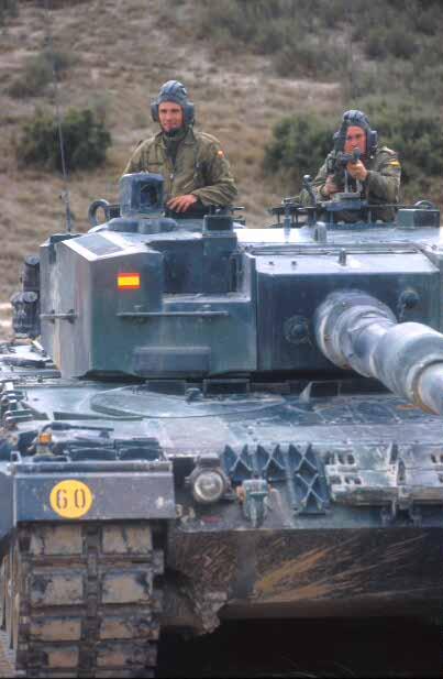 Un carro de combate Leopard.