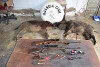 La Guardia Civil detiene en Castilblanco (Badajoz) a dos presuntos furtivos de caza