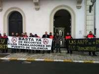 Trabajadores de los puertos de la Comunitat se encerrarán del 10 al 12 de abril en defensa del convenio colectivo