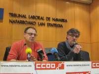El sector industrial de Navarra ha perdido 7.500 empleos en el último año, según CCOO
