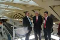 El ministro de Transportes de Australia visita la estación de Alameda de Metrovalencia y la Marina Real
