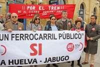 Realizan este sábado un viaje reivindicativo en tren para defender la Huelva-Zafra