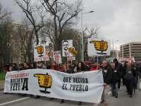 Miles de personas se manifiestan en Pamplona para pedir la dimisión de Barcina y reivindicar