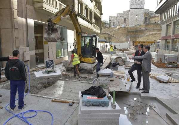 Comienzan las obras de pavimentación de la peatonalización de Lealtad y Emilio Pino