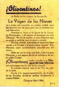 Una octavilla de la Virgen de las Nieves es la pieza del mes en el museo 'González Santana' de Olivenza (Badajoz)