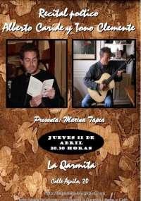 El poeta y periodista murciano Alberto Caride recitará este jueves junto al guitarrista Tono Clemente en Granada