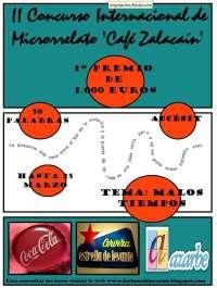 Los 'Lunes Literarios' acogen este lunes la entrega del II Premio Internacional de Microrrelato 'Café Zalacaín'