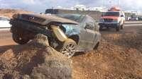La colisión de un turismo con una roca se salda con un herido en Lanzarote
