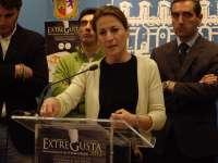 La alcaldesa de Cáceres confía en que la protesta de la Plataforma de Afectados por la Hipoteca sea
