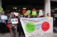PAH de Bizkaia denuncia que se vulnera su derecho a manifestarse tras no permitirse una protesta en la calle de Barreda