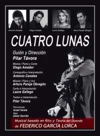 Antonio Canales, Diego Amador, Pareja Obregón y Laura Gallego presentan en Madrid el musical flamenco 'Cuatro Lunas'