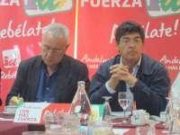 Valderas pide a Cayo Lara que IU lleve el decreto de la Junta contra los desahucios a todos los parlamentos autonómicos