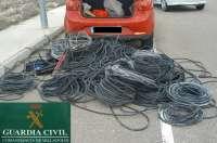 Sucesos.Tres detenidos por robar cable de cobre y dejar sin luz a una urbanización de San Miguel del Arroyo (Valladolid)