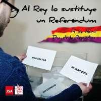 JSA pide que los ciudadanos puedan elegir entre república o monarquía con la campaña 'Al Rey lo sustituye un Referéndum'