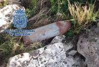 La Policía desactiva un proyectil de artillería de la Guerra Civil