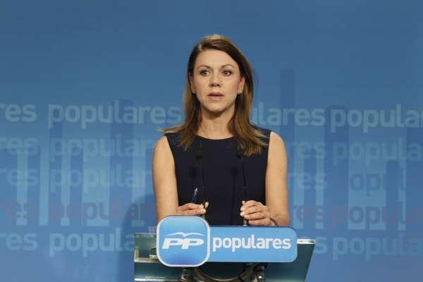 Cospedal dice que PP estudia presentar una demanda contra Jorge Trías o ampliar la que interpuso por el 'caso Bárcenas'