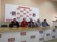 UGT y CC.OO piden acudir a la manifestación del miércoles en León para evitar