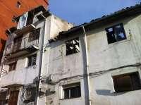 Declarado en ruina inminente el número 39 del Río de la Pila tras el incendio del lunes