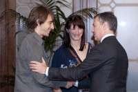El lehendakari recibe a los deportistas Maider Unda y Jon Santacana