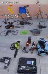 Detenido en Albacete por 10 robos con fuerza en casas de campo utilizando una bicicleta en sus desplazamientos