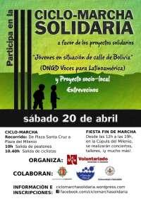 La III Ciclo-Marcha Solidaria recorrerá Valladolid para recaudar fondos para Voces para Latinoamérica y Entrevecinos