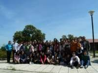 Alumnos del Instituto de Enseñanza Secundaria 'Gévora' de Badajoz visitan las instalaciones de la finca 'La Cocosa'