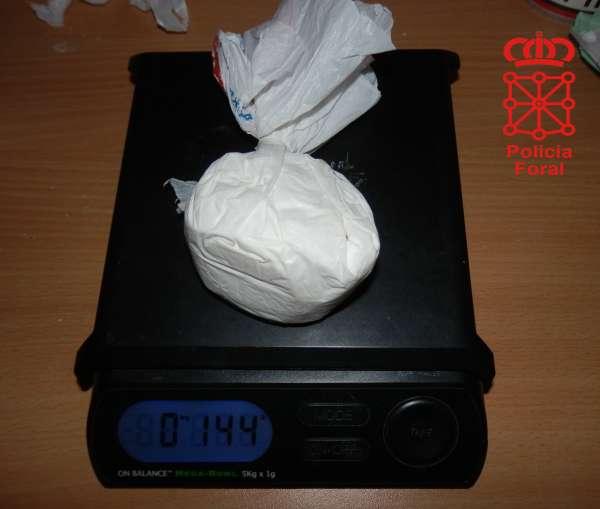 Detenido un vecino de Ansoáin con 272 gramos de speed