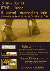 El festival 'Extremadura Baila' reunirá el 27 de abril en Mérida a asociaciones y escuelas de baile de toda la región