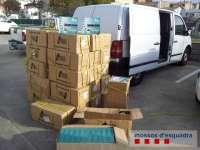 Once detenidos por robar la carga de camiones en la AP-7