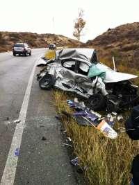 Un total de nueve heridos en los seis accidentes de tráfico ocurridos durante el fin de semana