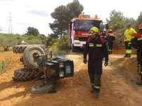 Fallece un hombre de 70 años al quedar atrapado bajo un tractor en Minglanilla (Cuenca)