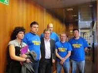 Los trabajadores de las subcontratas de Hunosa anuncian un nuevo encierro en el Ayuntamiento de Pola de Lena