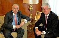 Encabo explica al rector de la Universidad de León la fiscalización de las universidades públicas en el ejercicio 2012