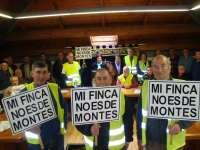 Afectados de montes inician el viernes una marcha a Santander y se concentrarán el lunes ante el Gobierno