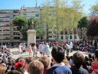 Cientos de escolares vallisoletanos respaldan la educación bajo el lema 'Sin profes no hay escuela' y piden más recursos