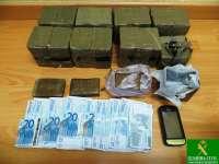 Intervenidos en Segovia más de ocho kilos de hachís al conductor de una furgoneta, que fue detenido