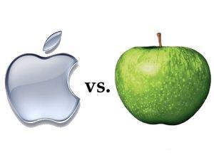 Apple vs. Apple.